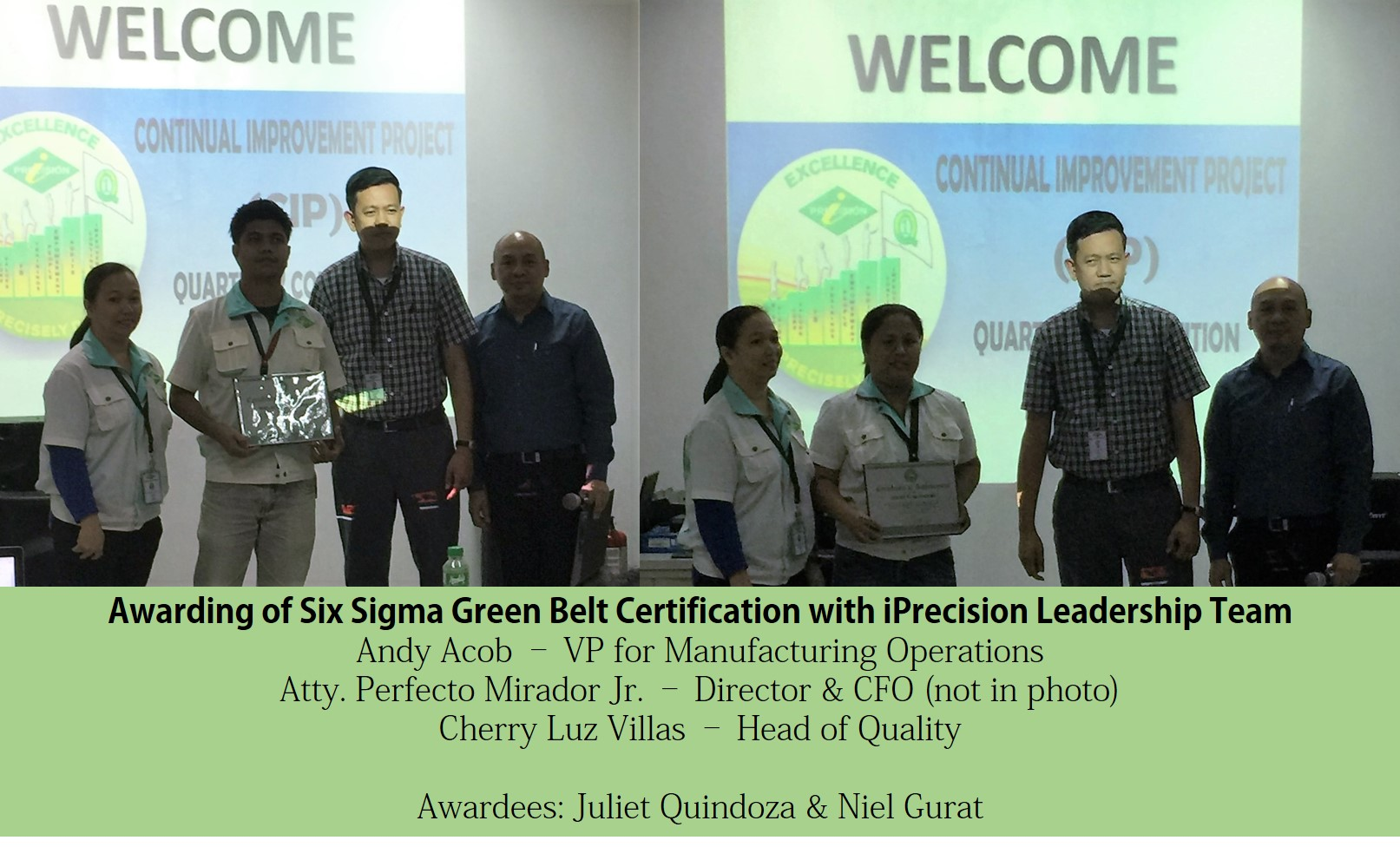 Six sigma green belt certification for iprecision innoveo lean six sigma green belt certification for iprecision innoveo lean six sigma philippines training certification consulting 1betcityfo Gallery